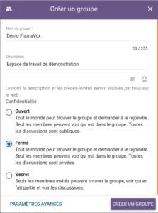 Démo Loomio - créer un groupe - itopie informatique, libre, éthique, citoyenne, Genève